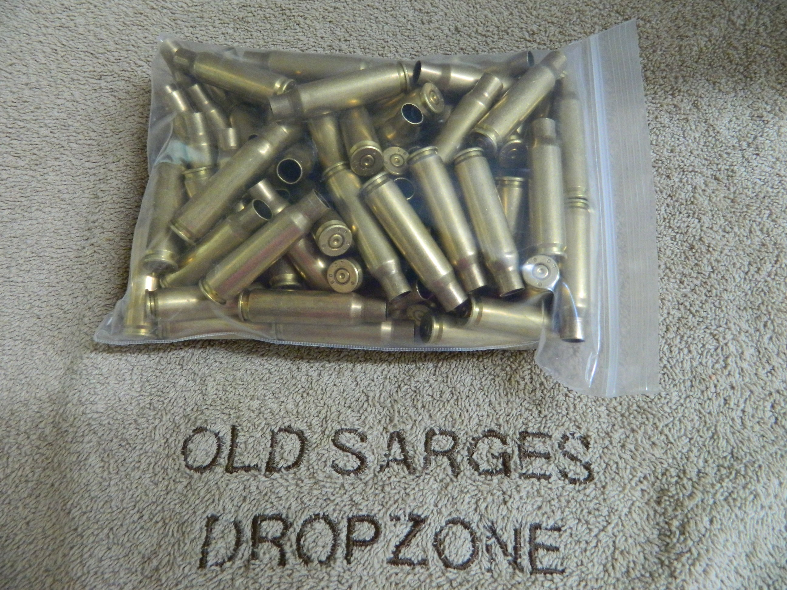 .308 Brass- Mixed Dates & Head Stamps- 1x fired- 100 Ct.