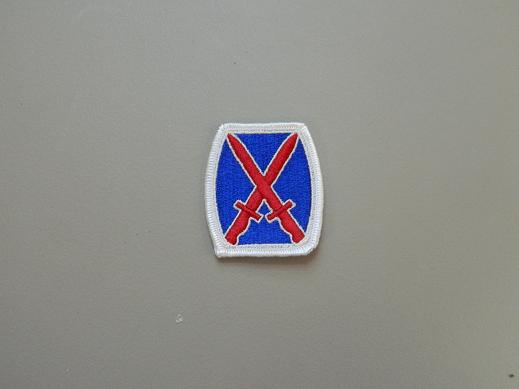 10th Inf. Div. Color Patch