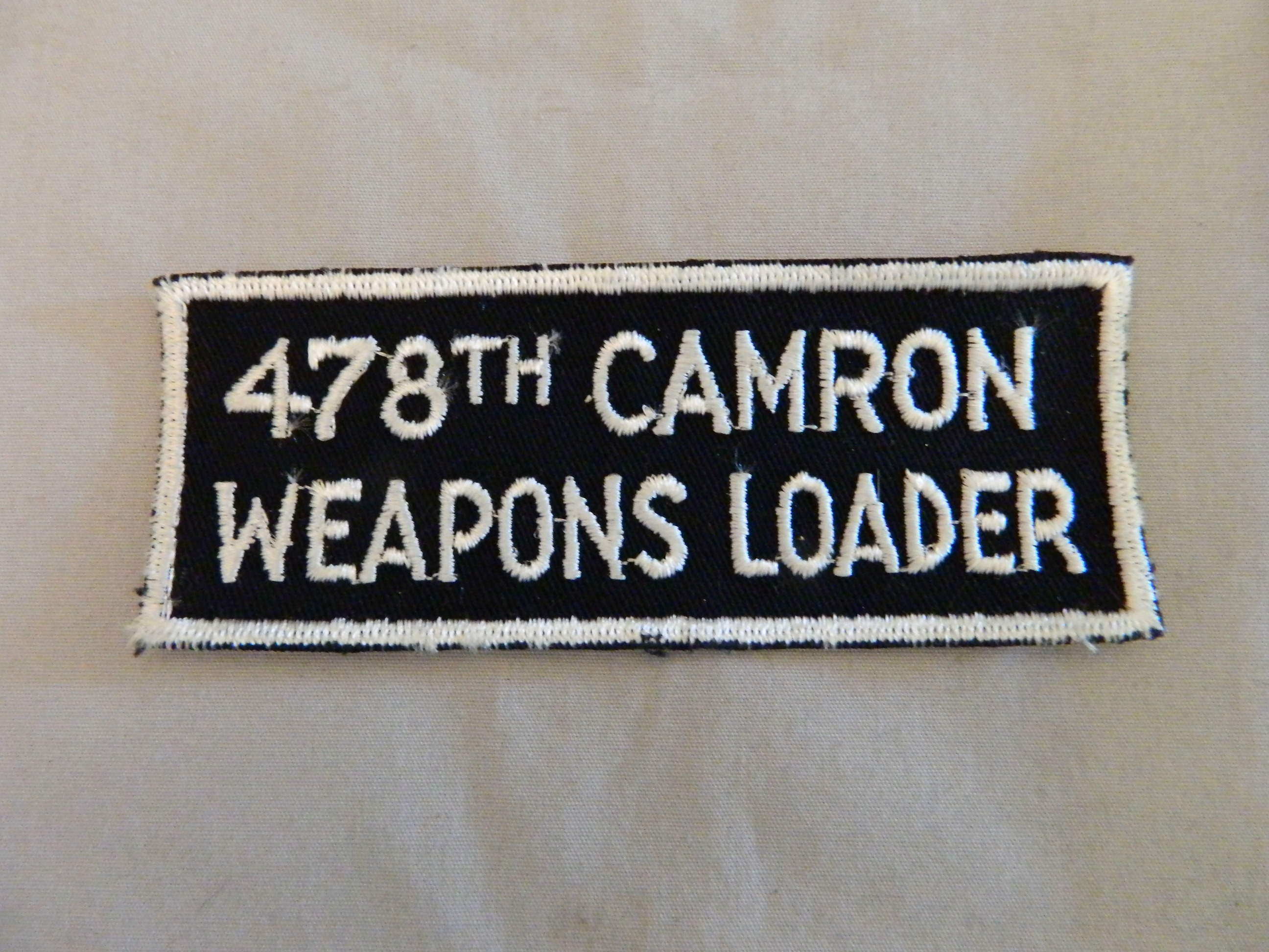 USN: 478th CAMRON WEAPONS LOADER Patch