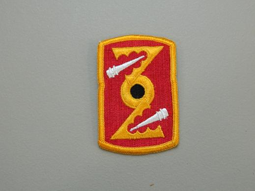 72nd Artillery Bde. Color Patch