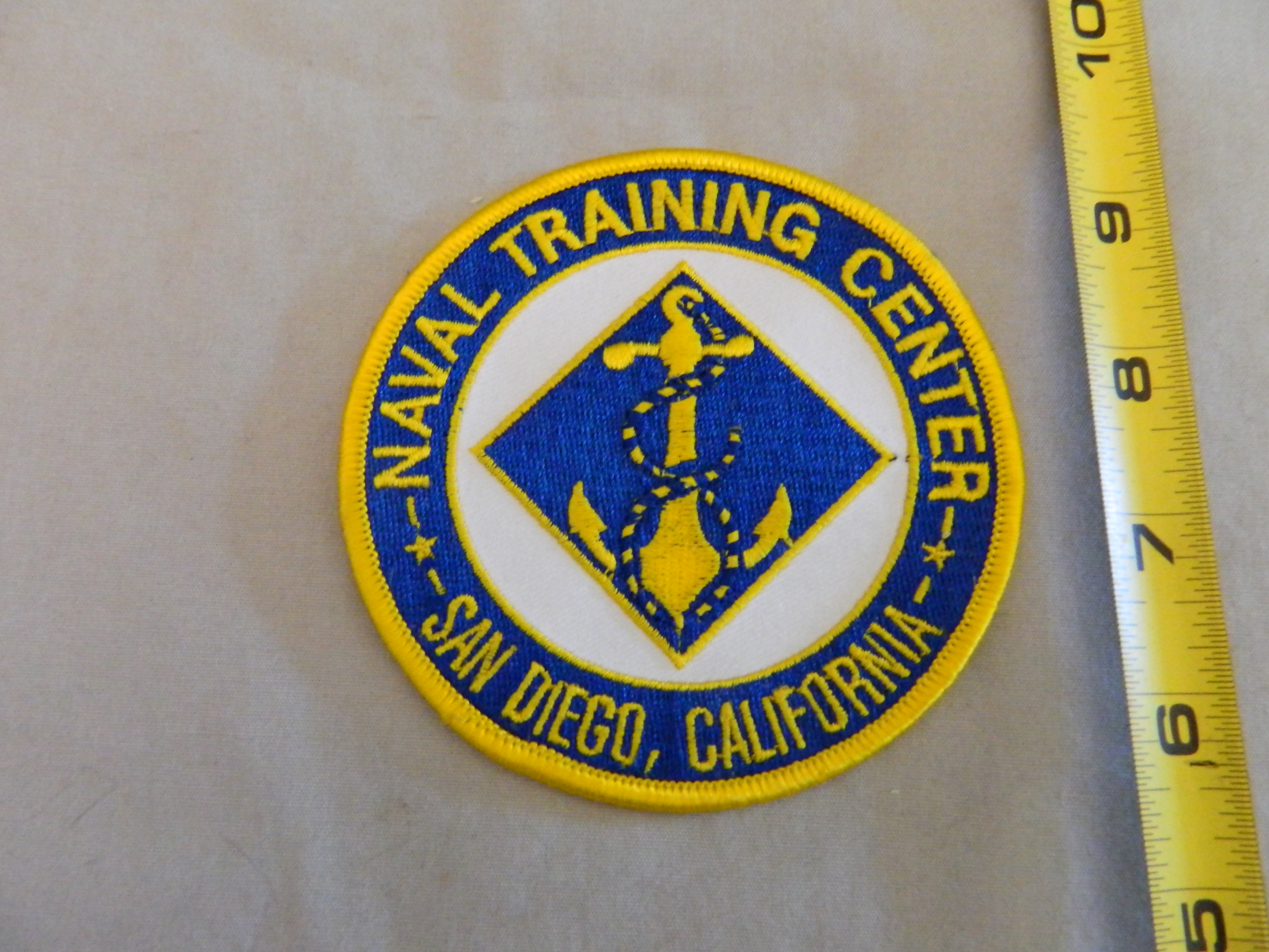 USN: NAVAL TRAINING CENTER-San Diego, Cal.- Color Patch