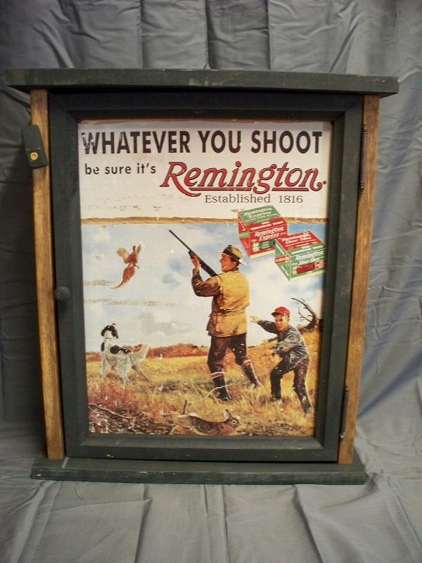 Remington - Whatever You Shoot Pine Cabinet