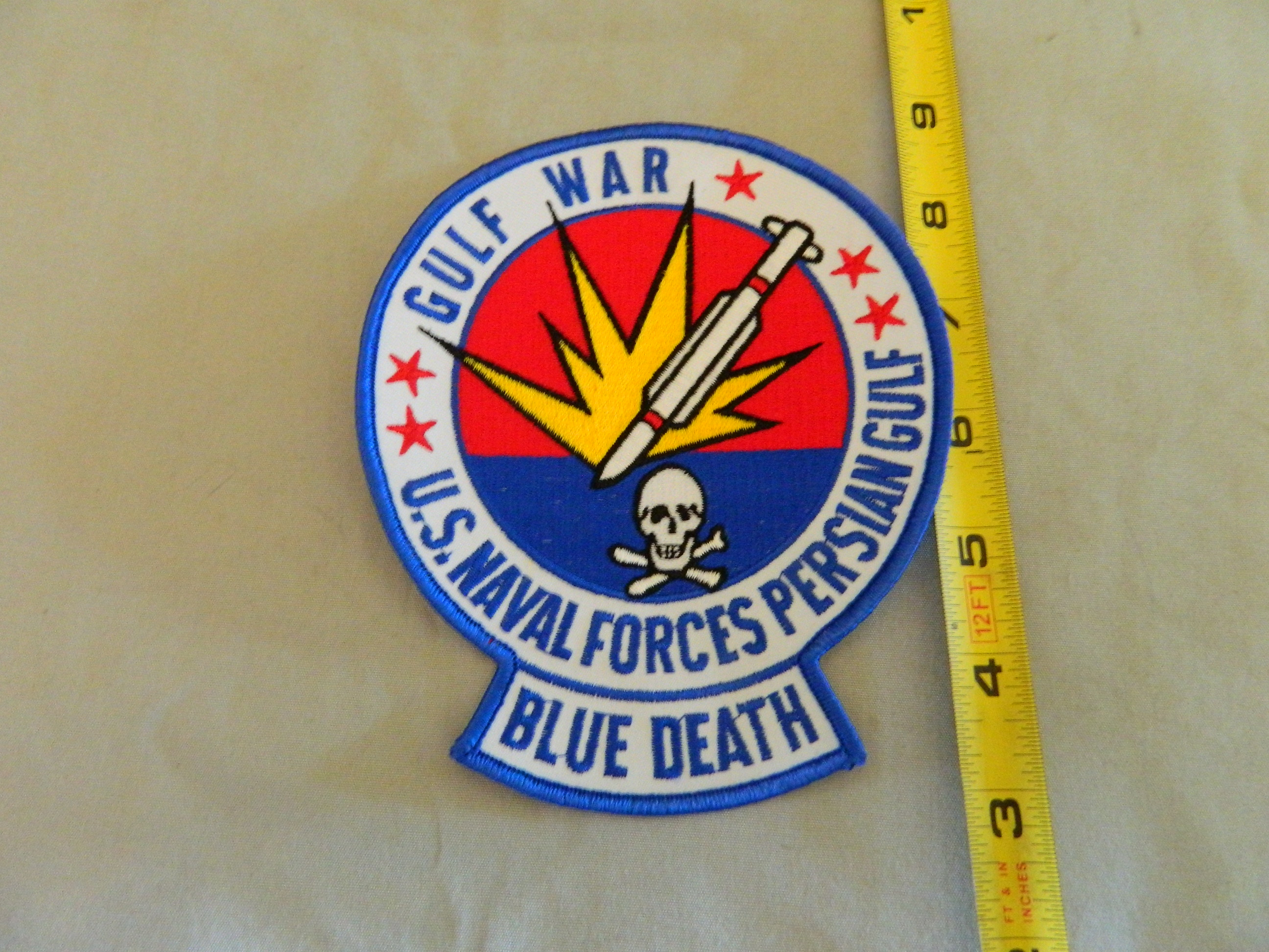USN: US Naval Forces Persian Gulf- Blue Death- Color Patch