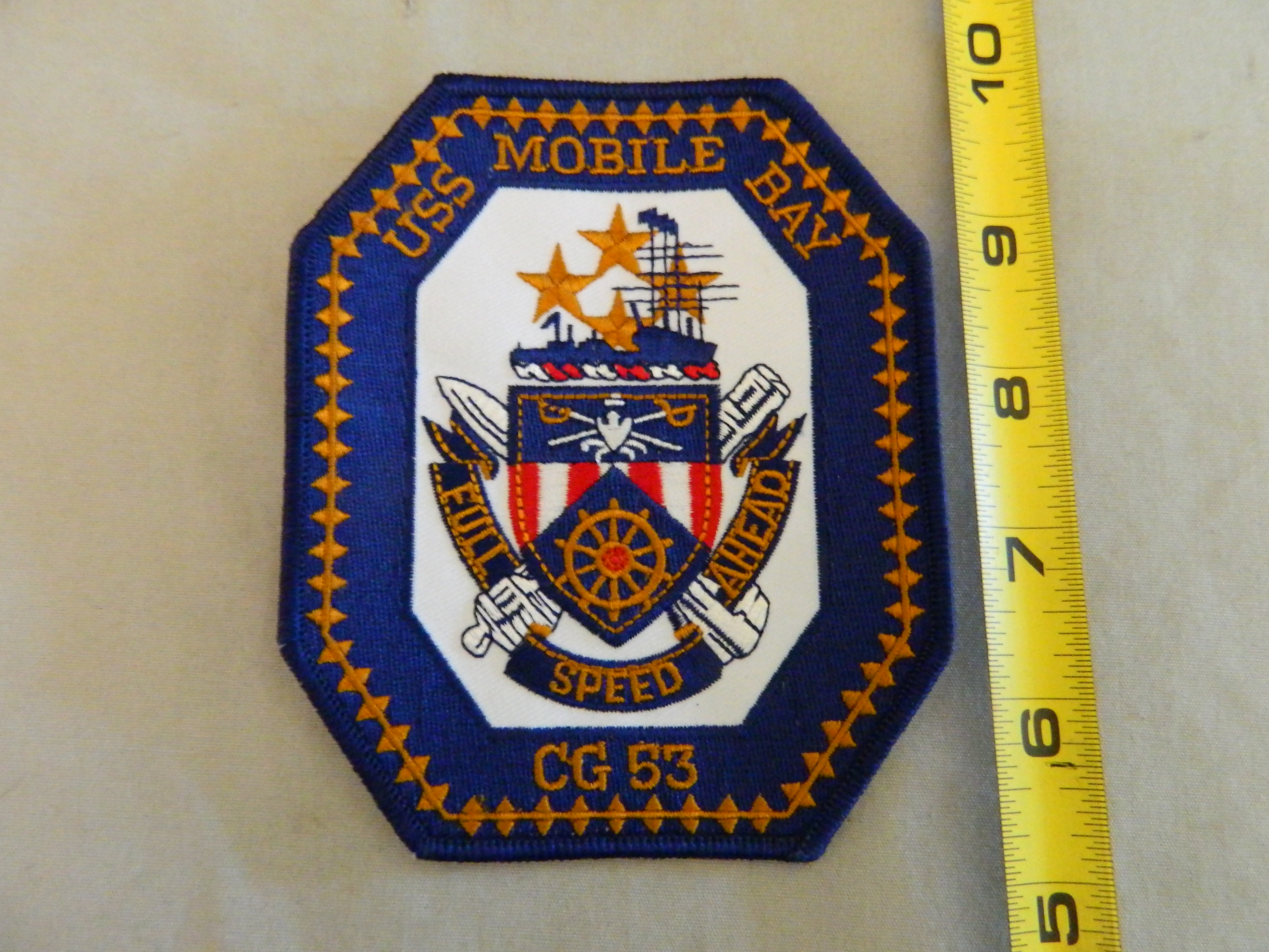 USN- USS Mobile Bay- CG 53 Color Patch