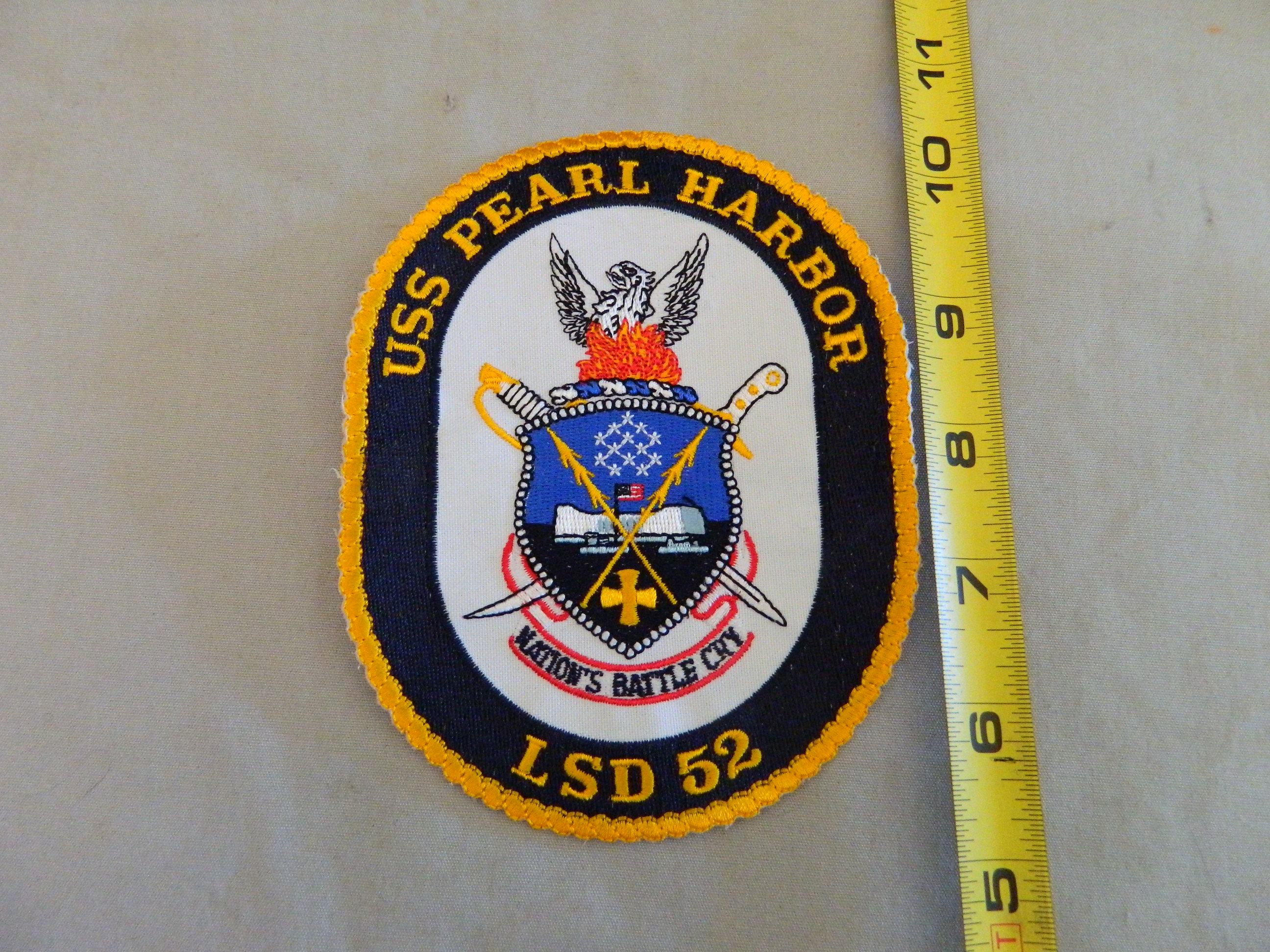 USN: USS PEARL HARBOR LSD 52- Color Patch