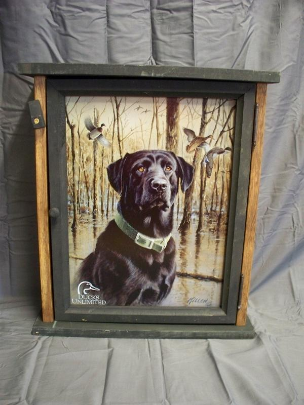 Duck's Unlimited Black Lab Pine Cabinet