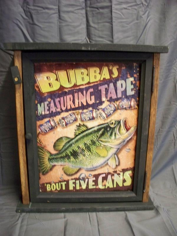 Bubba's Measuring Tape Pine Cabinet