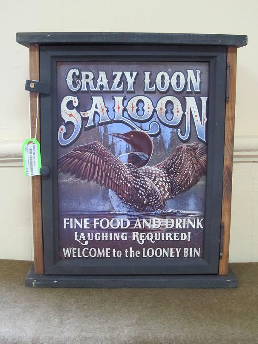 Crazy Loon Saloon Pine Cabinet