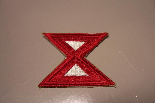 10th Army Color Patch- WW2