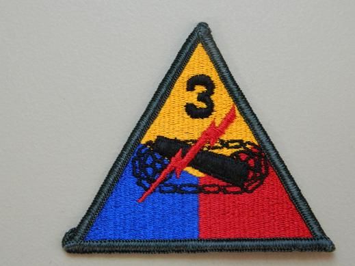 3rd Armored Div. - Color Patch NO TAB