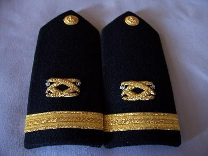 USN Ensign Civil Engineering Male Shoulder Boards