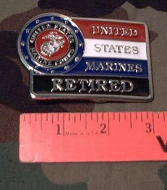 Belt Buckle: U.S. Marine Corps Retired