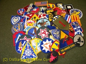 US Military Patches- Assortment of 50 Different