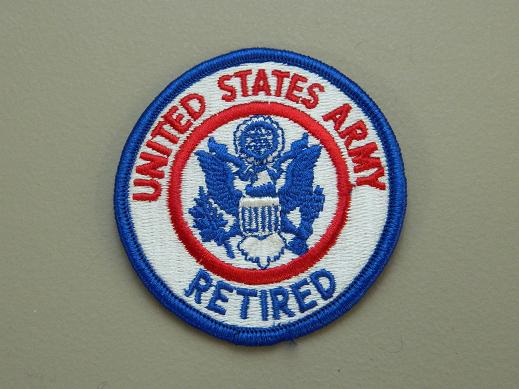 United States Army Retired Color Patch