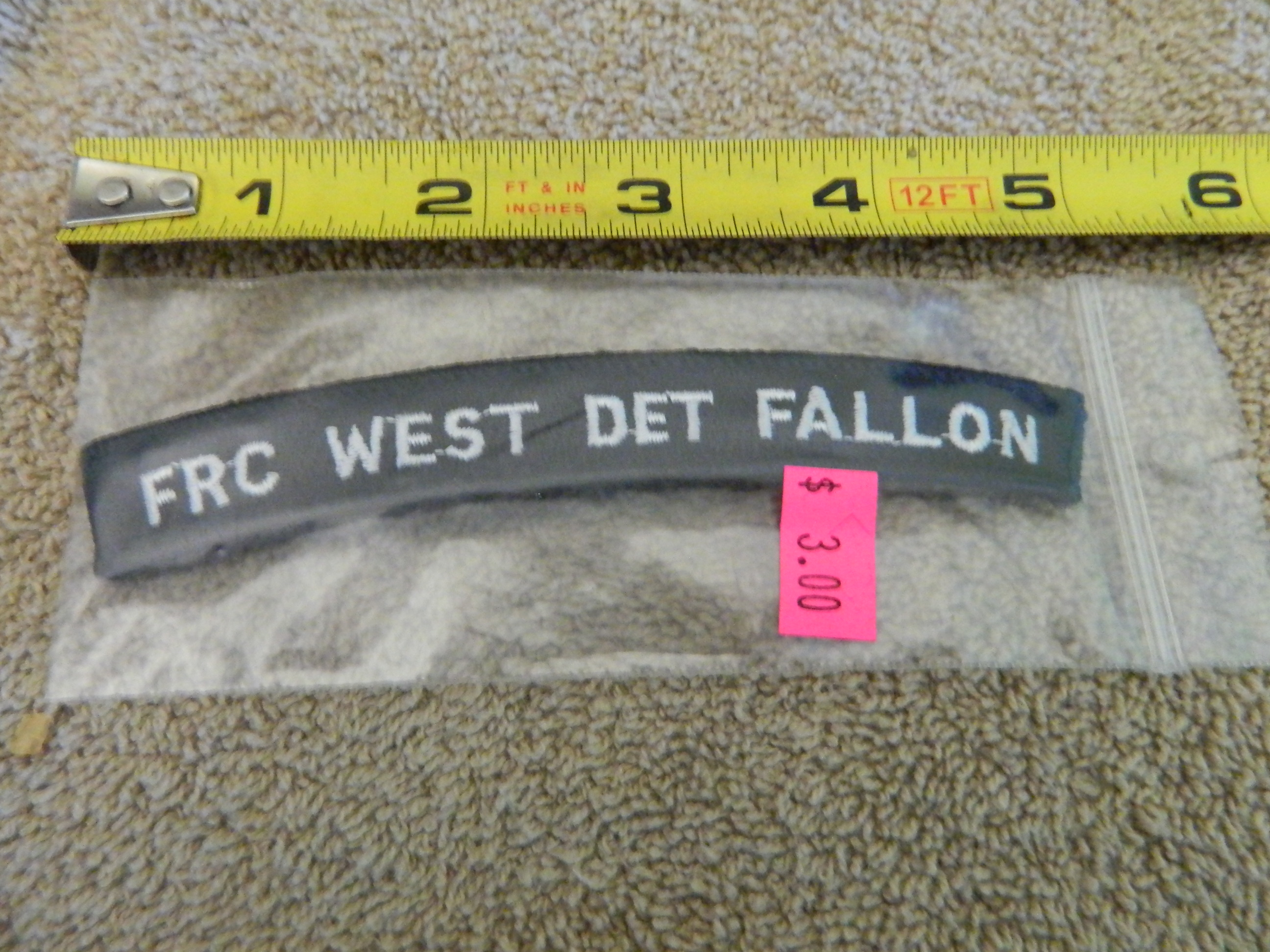 USN Rocker: FRC WEST DET FALLON