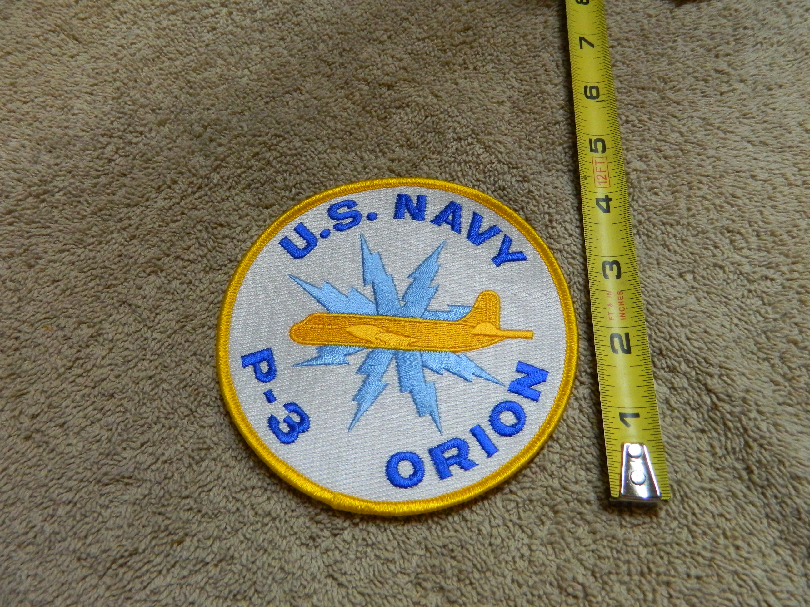 USN: U.S. NAVY P-3 ORION - Lrg. Color Patch