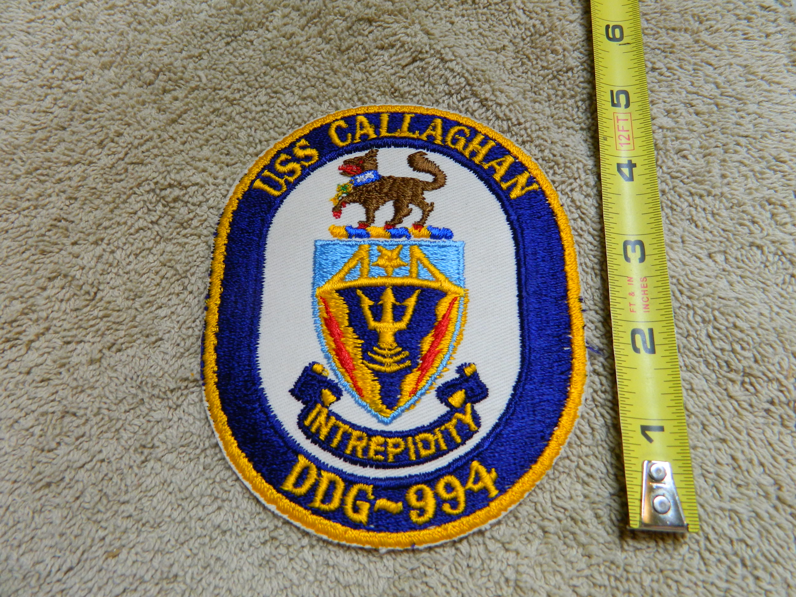 USN: USS CALLAGHAN- DDG-994 Lrg. Color Patch
