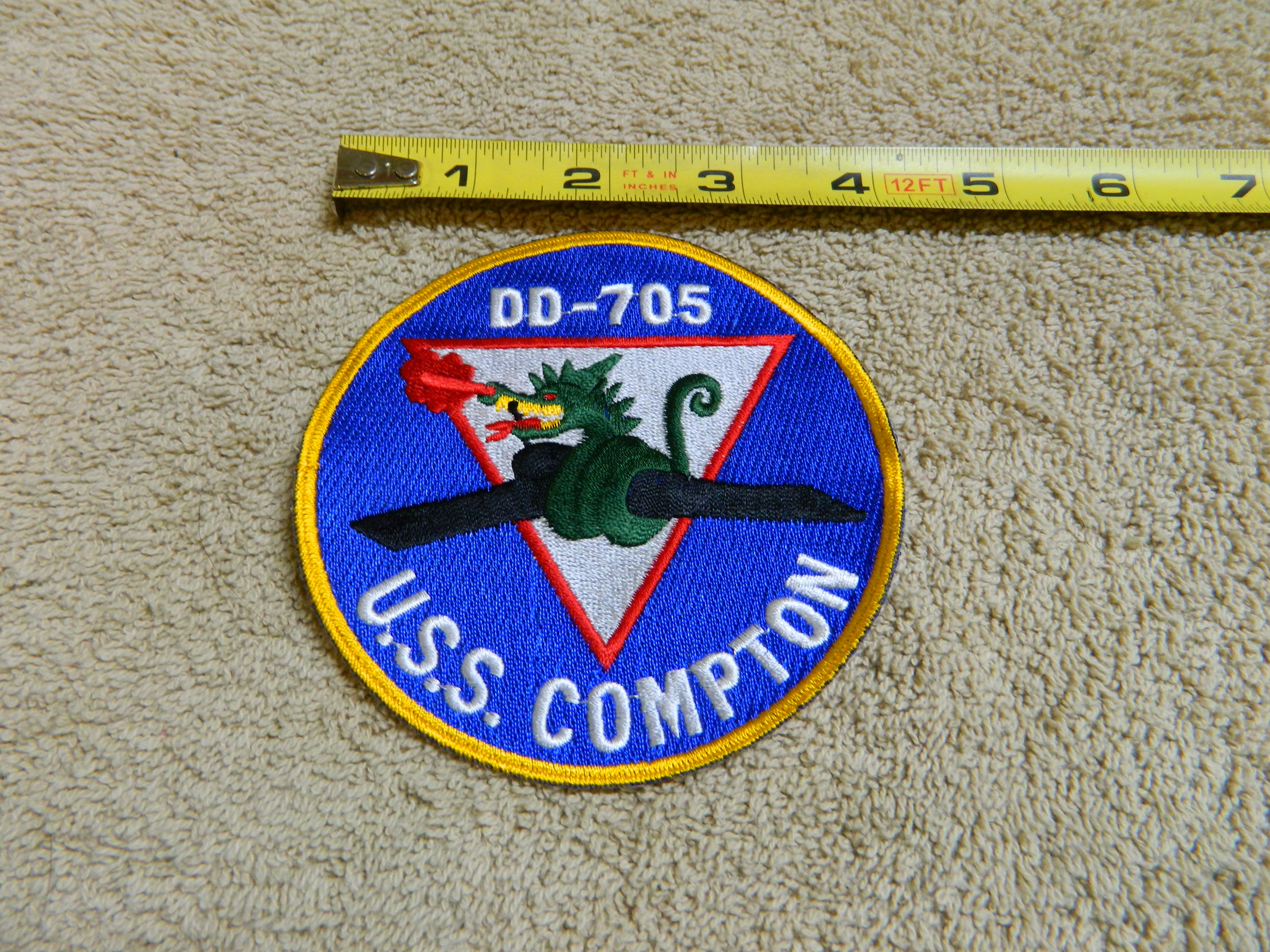 USN: USS COMPTON- DD-705 Color Patch