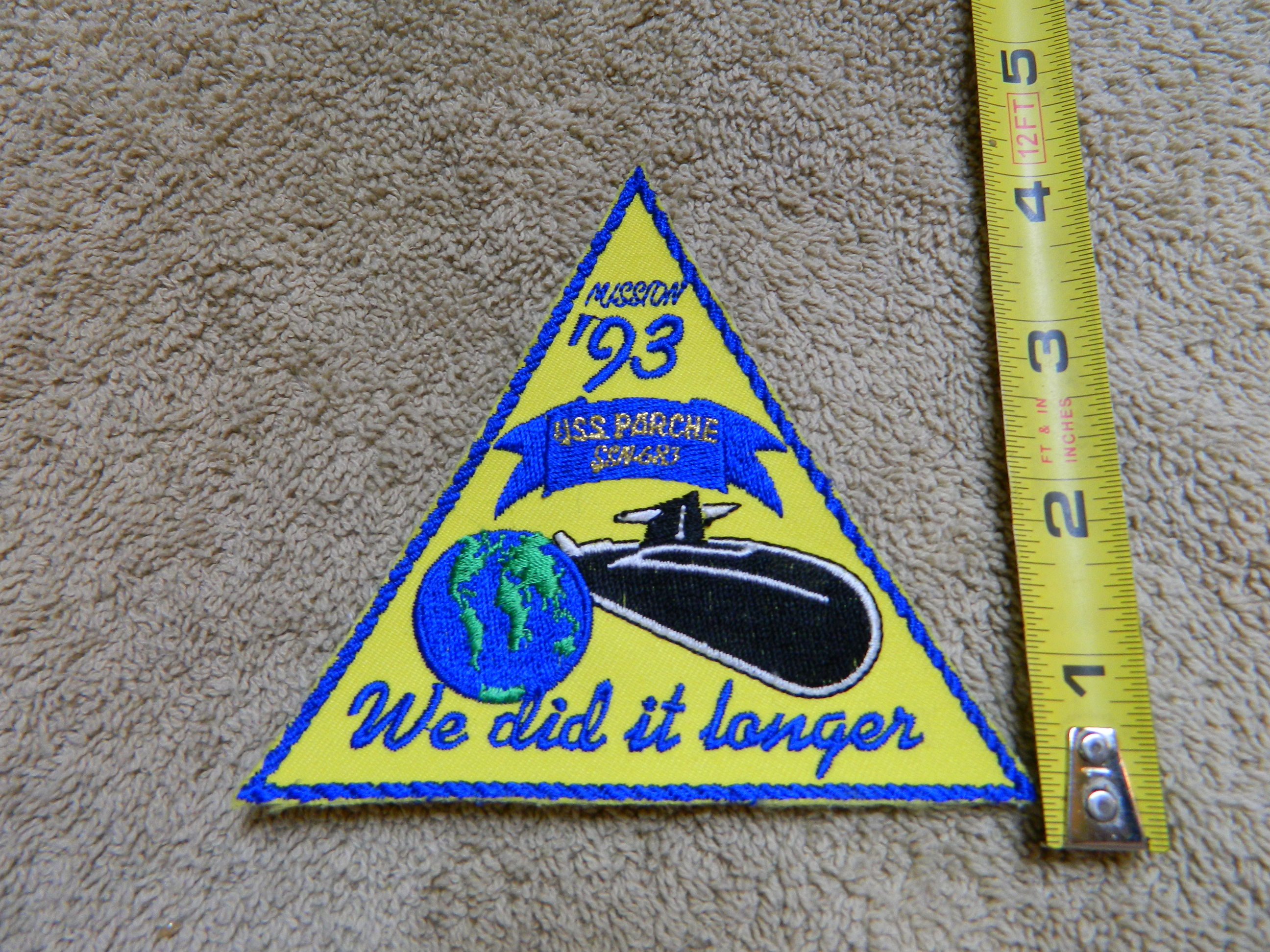 USN: USS PARCHE SSN-GR3 MISSION '93 Color Patch