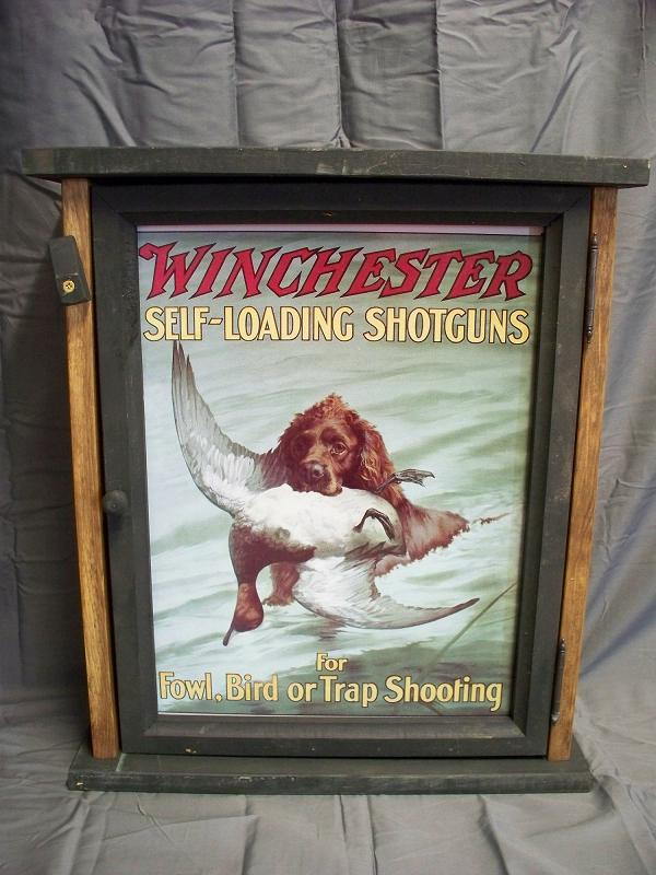 Winchester Self Loading Shotguns pine Cabinet